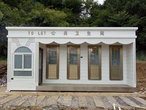 上海浦东金属雕花板厕所 社区车站环保公共卫生间项目案例