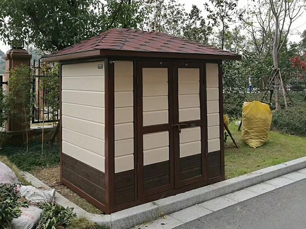 小区街道公园金属雕花板分类垃圾/有害垃圾回收站