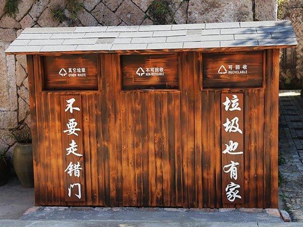 福州经济适用防腐木可回收/其它垃圾分类屋