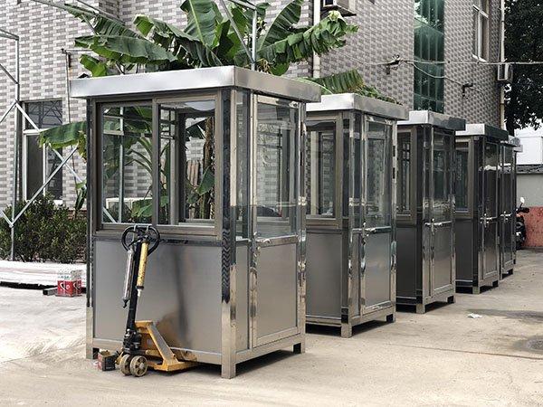 大批量定制304方形不锈钢岗亭 成品收费亭 不锈钢保安岗亭