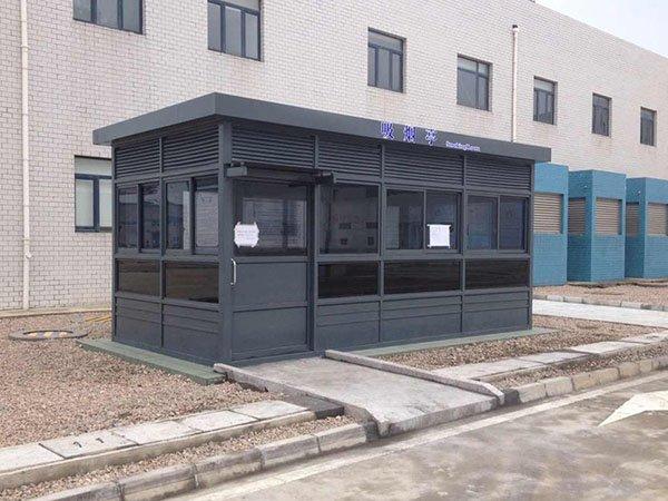 福州定制艺术吸烟亭/工厂单位园区吸烟亭厂家