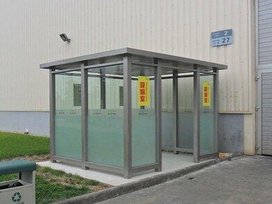 福州环保吸烟亭定制/钢结构成品吸烟亭