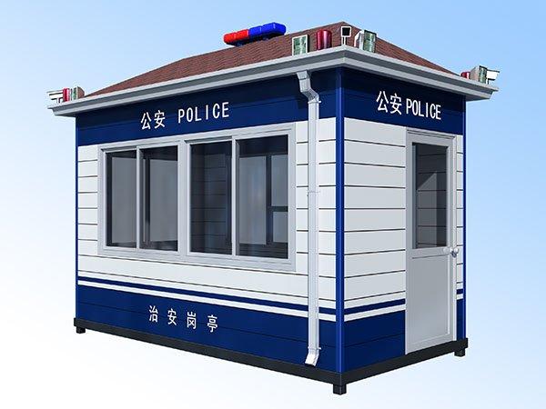公安巡逻警务工作站 交通警察巡逻办公执法岗亭
