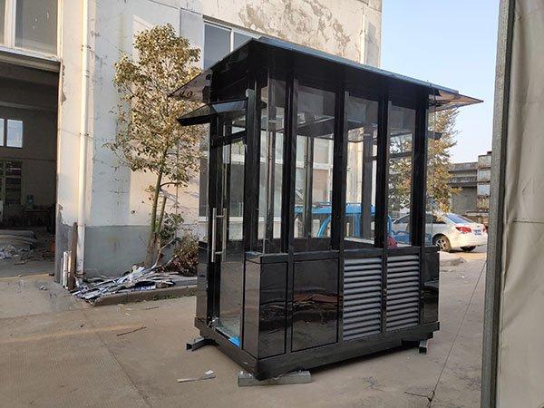 高档小区社区街道定制型不锈钢保安岗亭 可移动式值班室