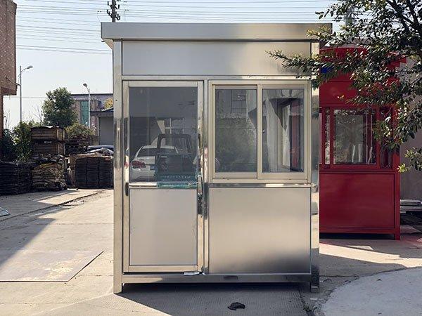 办公写字楼不锈钢保安岗亭 停车场治安定制岗亭