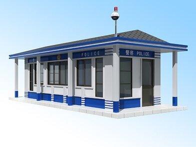 钢结构雕花板公安警务室 医院事业单位治安岗亭