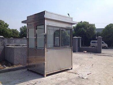 中石化加油站治安保安岗亭 定制不锈钢户外岗亭