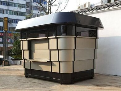 城市广场钢结构可移动式餐车售卖点 饮料摊点售货亭