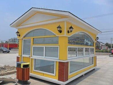 特色美食节烤肉饮料售货车 可移动式钢结构售卖亭