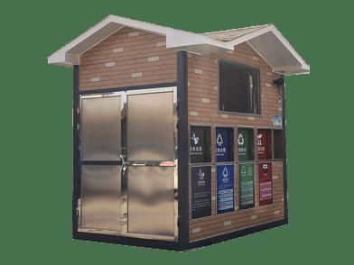 福州小区自助式无人看管推拉投递环保垃圾分类屋
